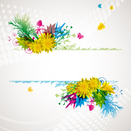abstract flora background 2 Stock Vector - 7644856