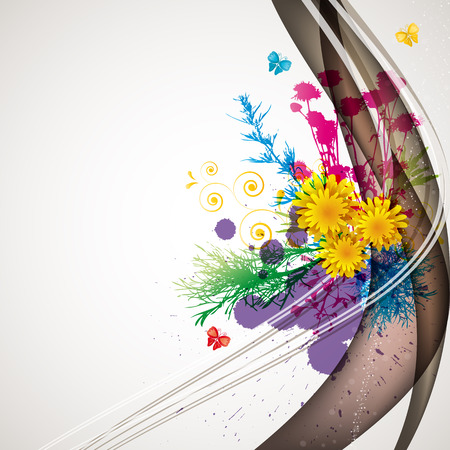boring: abstract flora background 1 Illustration