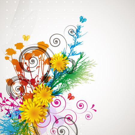 dandelion abstract: floral background  Illustration