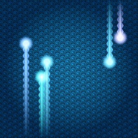 Techno Electric texture. Illustration Stock Vector - 8145597