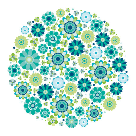 Green design - Flower circle. Illustration