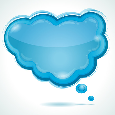 Cloud glossy speech bubble - background Stock Vector - 8145600
