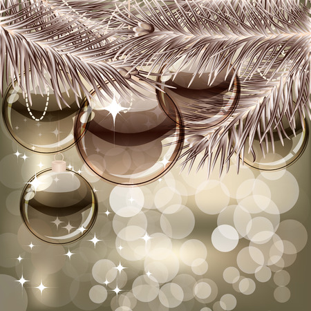 Christmas background with transparent balls Stock Vector - 8174376