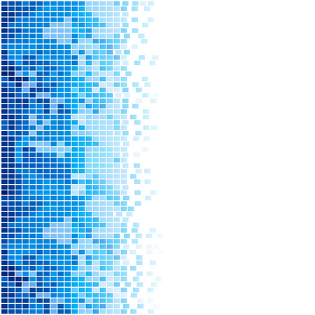 footer: abstract blue mosaic background Illustration