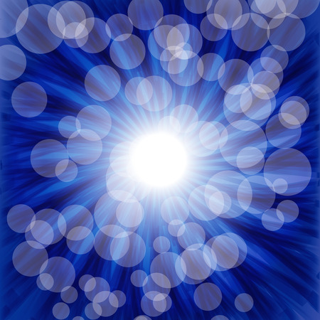 luminous: Blue luminous background -   illustration