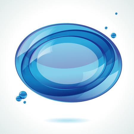 Speech blue bubble   background Vector