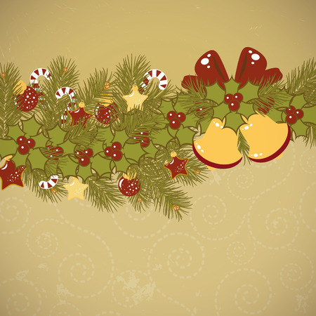 Christmas old background  Stock Vector - 8229822