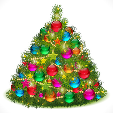 Lush Christmas tree  image Stock Vector - 8229823