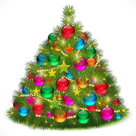 fir tree balls: Lush Christmas tree  image