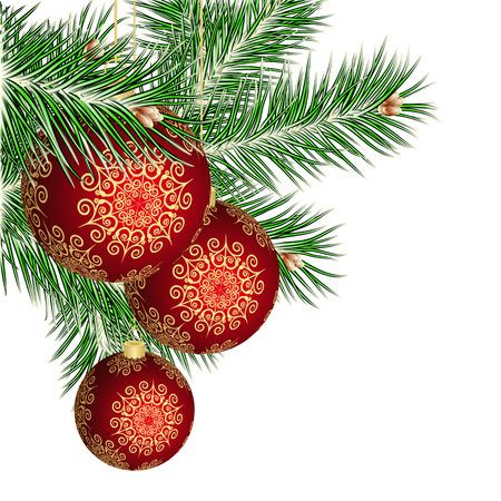 jubilant: Christmas tree and red balls