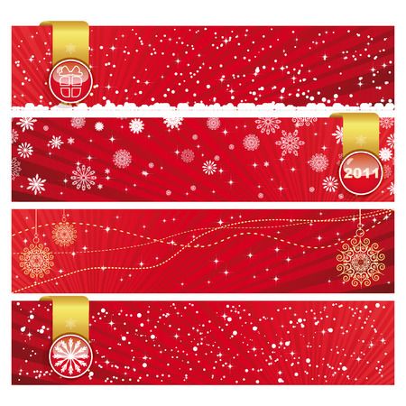 Vector Christmas Horizontal Banner  Vector