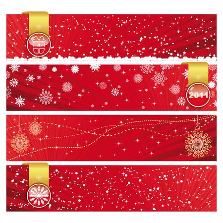 Vector Christmas Horizontal Banner  Vector