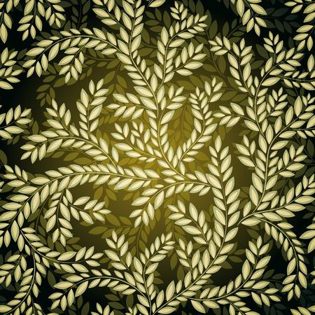 weave: Dark Seamless floral Pattern. Illustration