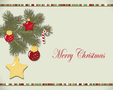 Christmas wreath card Vector
