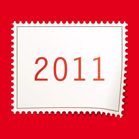 Christmas postage stamps. Vector