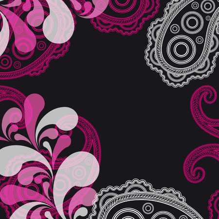 magnificence: abstract paisley background with place for your text