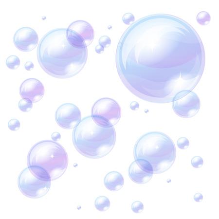 soap sud: Blue bubbles background, image
