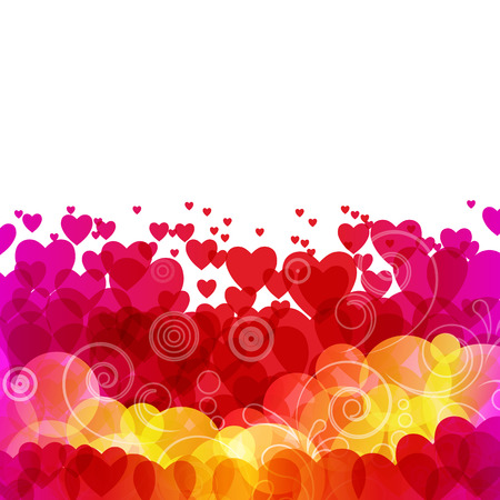 Beautiful background with hearts Stock Vector - 8353074
