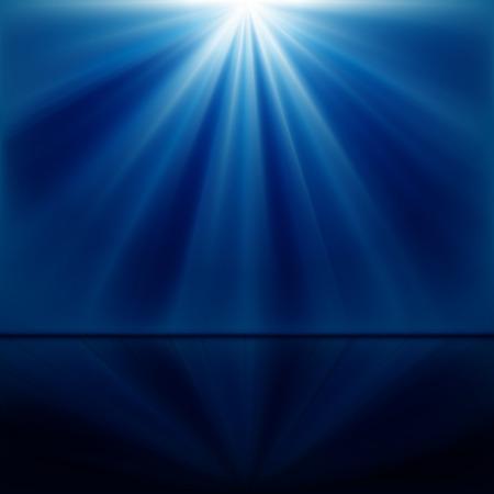 spotlights: Fondo de rayos luminosos azules