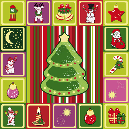 vector frame christmas pattern Stock Vector - 8411923