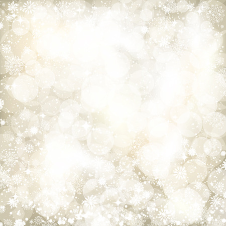 gleam: Abstract background of holiday lights and snowflakes. Vector.