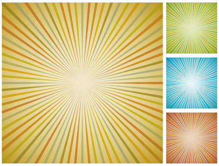 Abstract vintage starburst background.  Vector