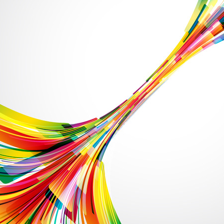 synergy: Abstract bright background. Vector