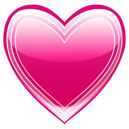 pink heart: Beautiful heart