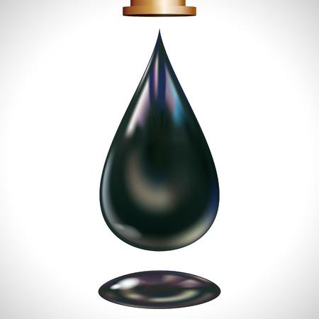 petroleum:   gota de aceite de gran tama�o. Vectores