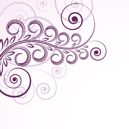 abstract floral curls. Vector