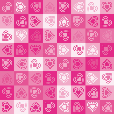Cute heart seamless background Vector