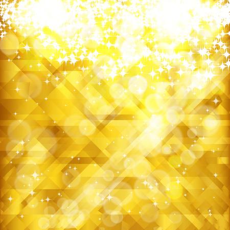 Stars sfondo dorato e il luogo per il testo