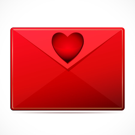 A love letter with a heart  Vector