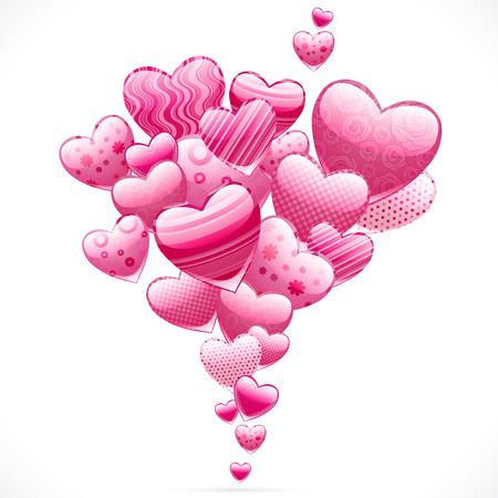 Abstracte vliegende harten