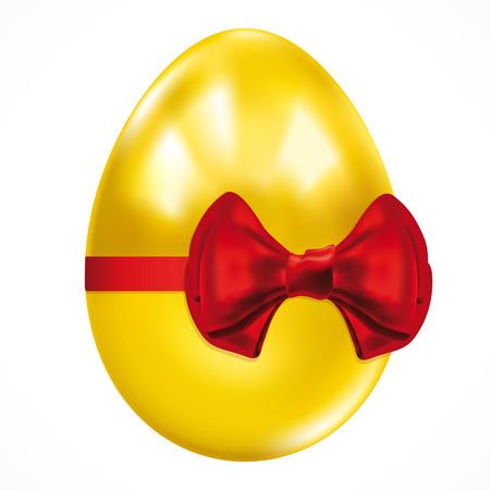 uova d oro: Uovo di Pasqua del dono dorato.  Vettoriali