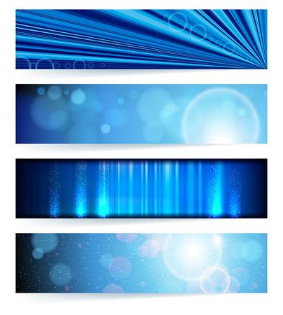 set van abstracte banners. Blauw ontwerp. Achtergrond. Stockfoto - 8715170