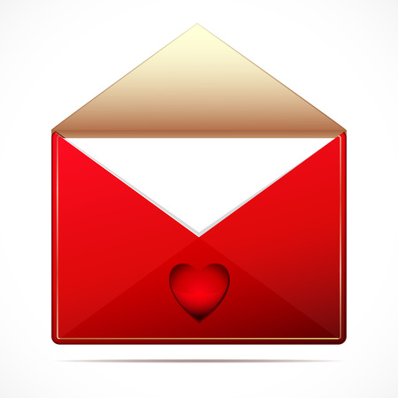 A love letter with a hearts Vector