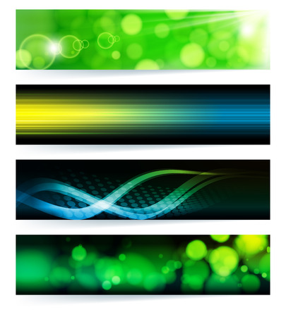 set of abstract banners. Blue Design Stock Vector - 8805964