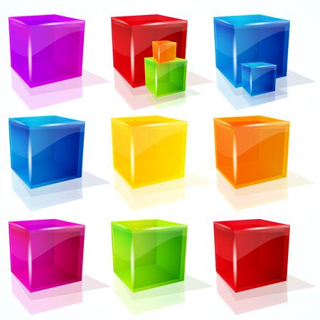 cubes. Stock Vector - 8806065