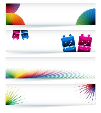 gamut: Multicolor gamut banner design Illustration