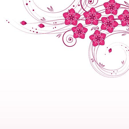 pink banner: Graceful floral background