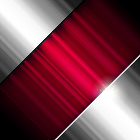 Abstract background, metallic and red, Vector. Stock Vector - 8984331