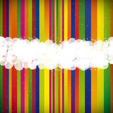 Peinture rayé feuille blanche - fond de vecteur abstraite.