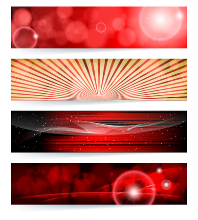 Vector set of abstract banners. Blue Design. EPS10 Vector Background. Vector