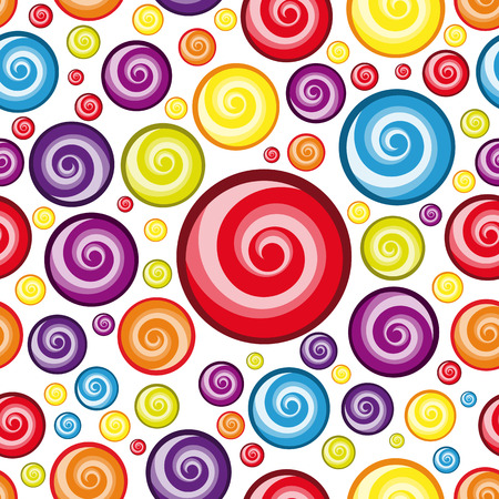 colourful candy: Vector Seamless Multicolor  Wallpaper.