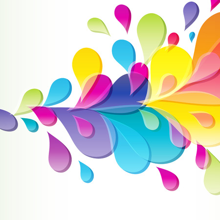 Abstract background with bright drop. Vector
