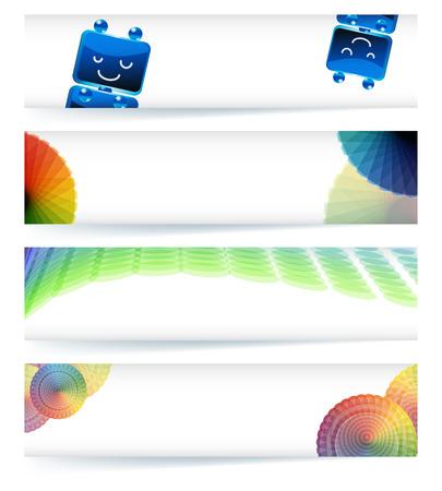 gamut: Multicolor gamut banner design in eps10 vector format.