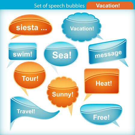 Set of speech bubbles. Stock Vector - 9045552