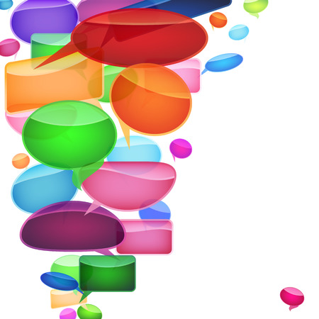 Speech bubbles of traditional and original forms. Stock Vector - 9045546