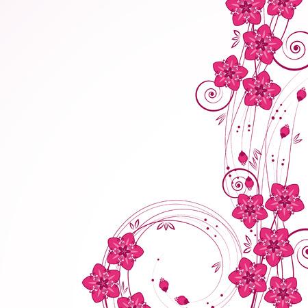 graceful: Graceful floral background, vector.